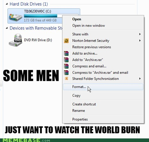 format,hard drive,some men,zip