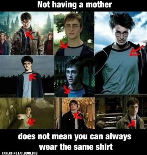 Harry Potter,motherless,same shirt