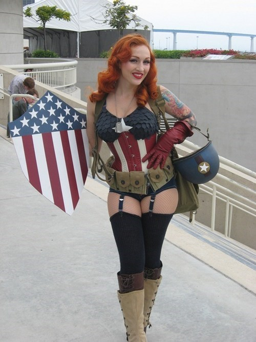 captain america,cosplay,rule 63