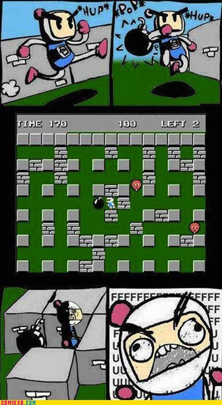 bomberman fuuuuuuuuu rage video games