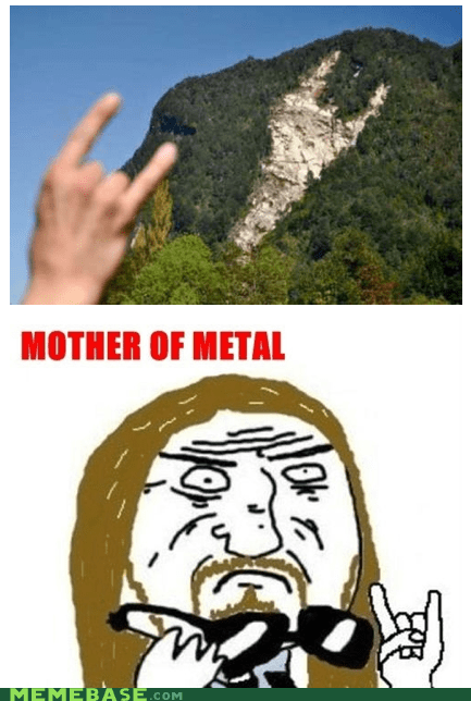 metal,mother of god,mountain,Rage Comics,rock