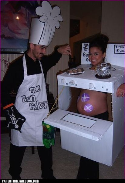 bun in the oven,halloween costumes,pregnant
