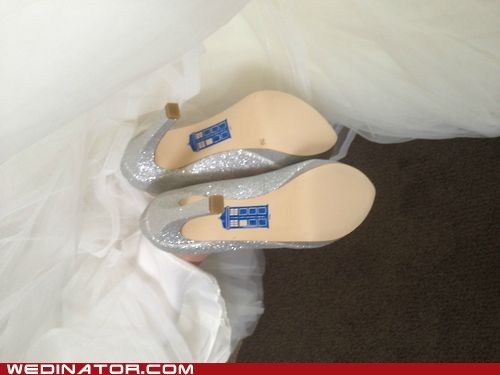 bridal couture bridal fashion brides doctor who fashion funny wedding photos geek heels shoes - 6494407168
