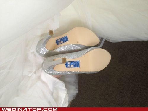 bridal couture bridal fashion brides doctor who fashion funny wedding photos geek heels shoes - 6494407168