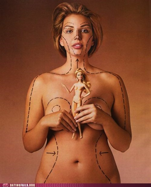 Barbie image problems plastic surgery