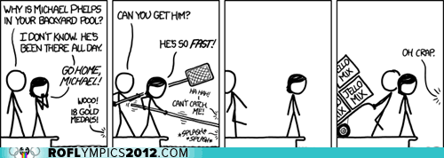 Jello London 2012 Michael Phelps olympics pool swimming xkcd