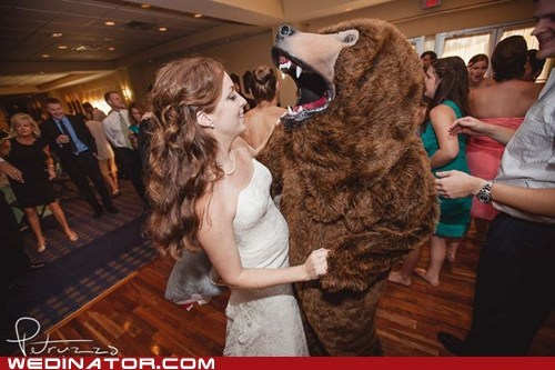 bearshark bride dance funny wedding photos - 6494615808