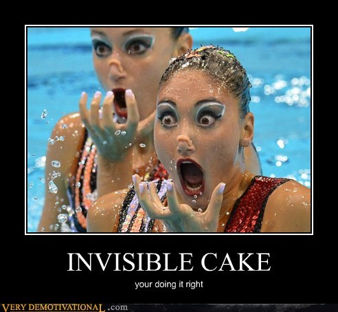 cake,hilarious,invisible,synchronized swimming