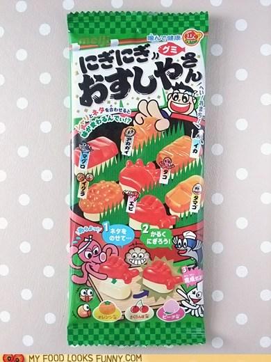candy gummy sushi