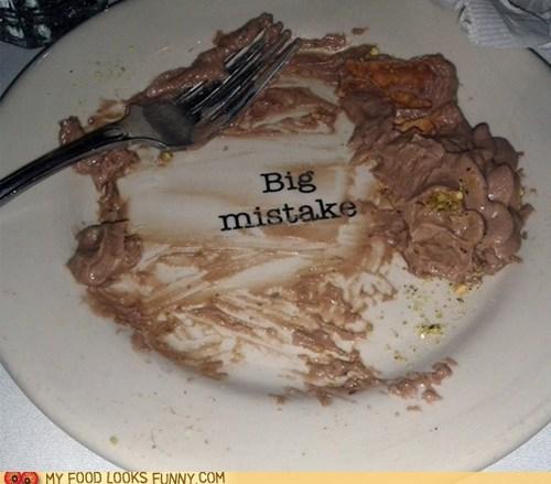 dessert,mistake,plate,print,run