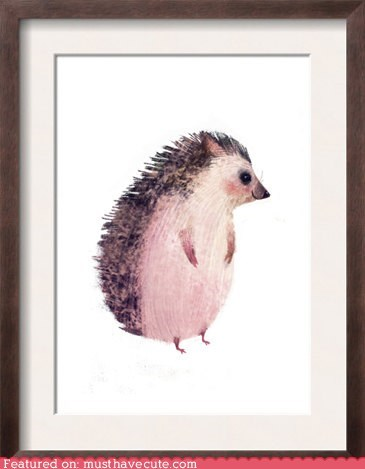 art hedgehog painting print - 6494842112