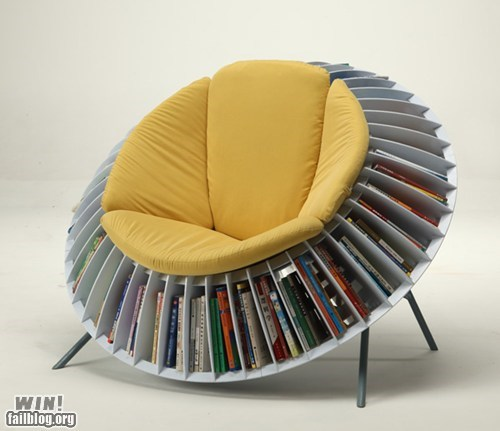 books chair design reading is sexy - 6494890752