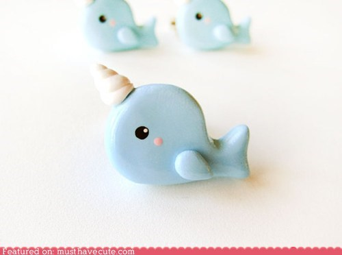 face horn Jewelry narwhal ring whale - 6494916096