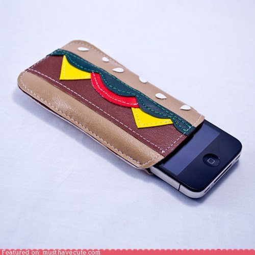 case cheeseburger iphone sleeve vinyl - 6494921216