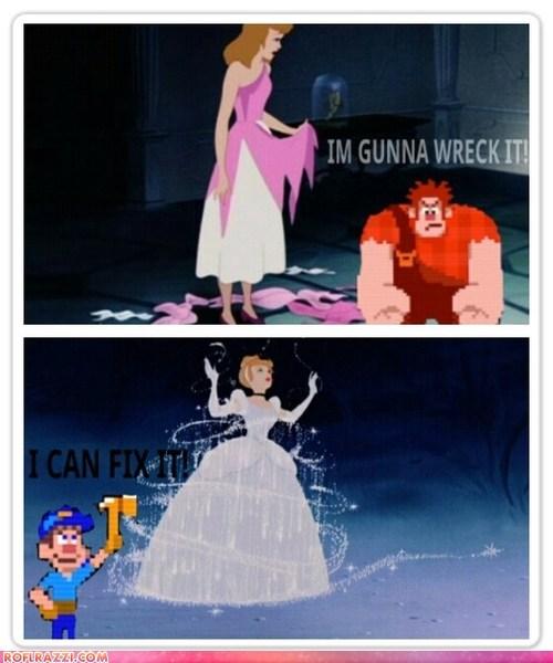 animation cinderella disney funny Movie shoop wreck-it ralph - 6495025920