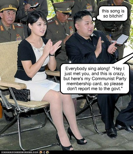 call me maybe,kim jong-un,North Korea,political pictures,Ri Sol Ju,ri sol-ju