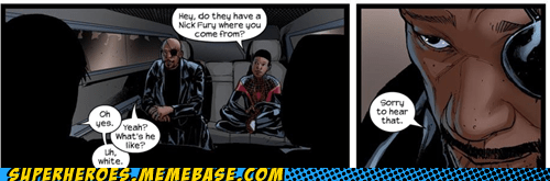 alternate universe Nick Fury Spider-Man Straight off the Straight off the Page