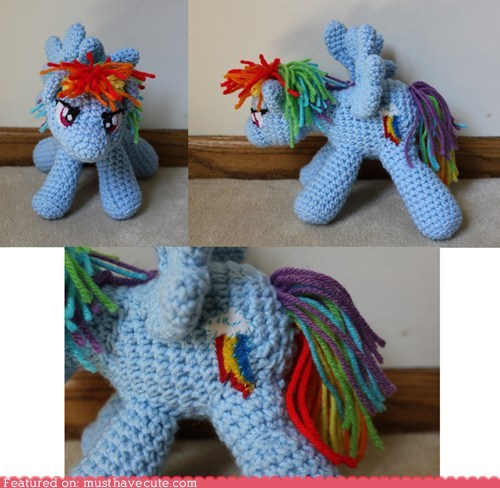 Amigurumi mlpfim my little pony rainbow dash