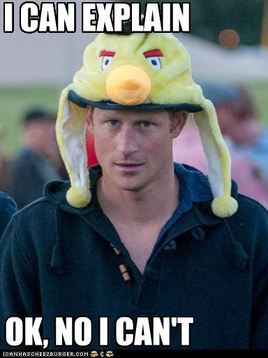 angry birds,england,political pictures,Prince Harry,royalty