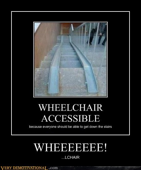 handicapped,hilarious,ramp,wee-stairs