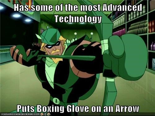 boxing glove green arrow Super-Lols technology - 6496015872