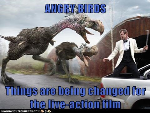angry birds,changes,chicken,danny quinn,jason flemyng,live action,Primeval,the movie