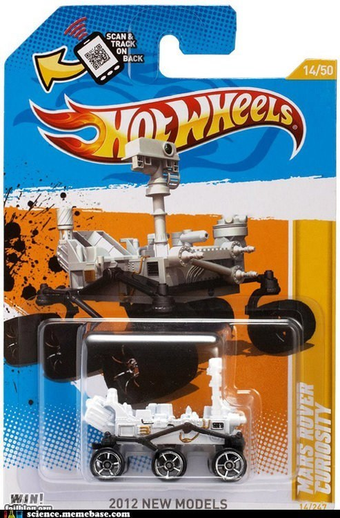 curiousity,Hot Wheels,Mars,Rocket Science,rover,toys