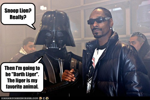 celeb darth vader funny Music rap snoop dogg snoop lion star wars - 6496339712