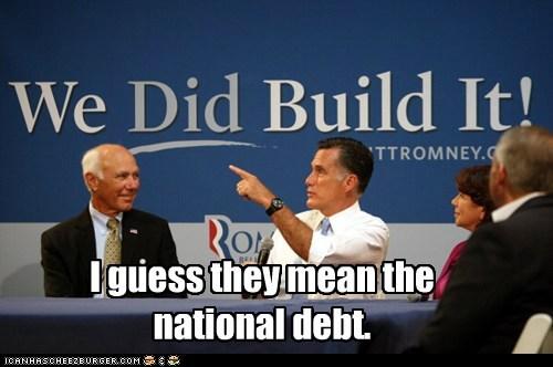 america debt economy Mitt Romney political pictures Republicans - 6496394240