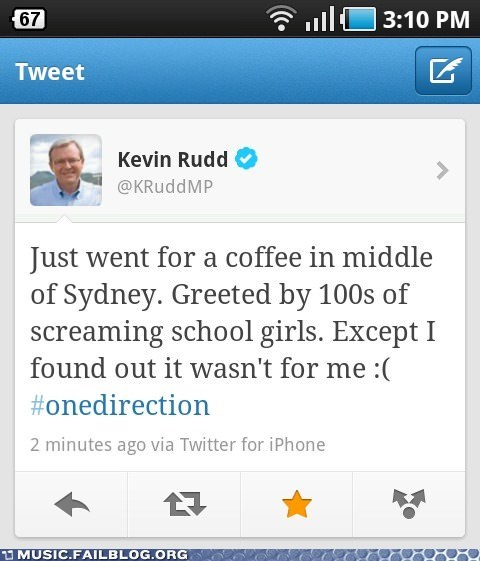 australia Kevin Rudd one direction pop twitter - 6496552960