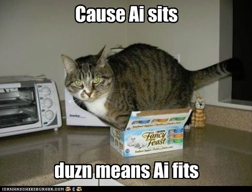 big box captions Cats if it fits sit small - 6496559872