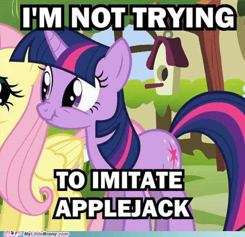 applejack imitation liar meme twilight sparkle - 6496663040
