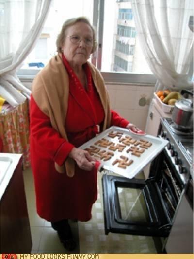 baking cookies grandma oven racist swastikas - 6496839680