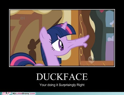 doing it right duckface the internets twilight sparkle - 6496888832