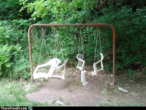 lawn chair swing swingset