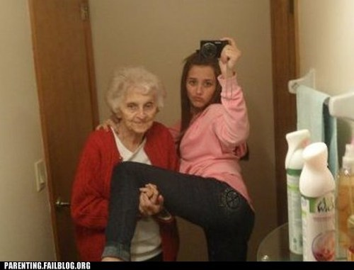 grandma,self shots