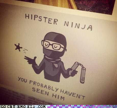 hipster,hipsterlulz,invisible,mainstream,ninja