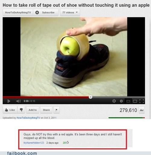 apple comment shoe youtube youtube comments