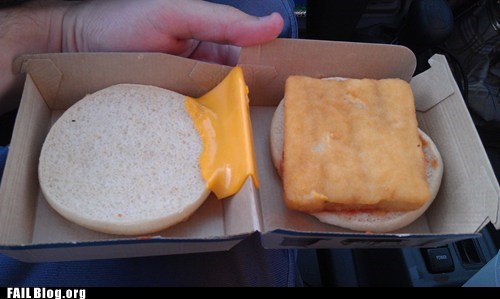 cheese fish sandwich McDonald's - 6497393408