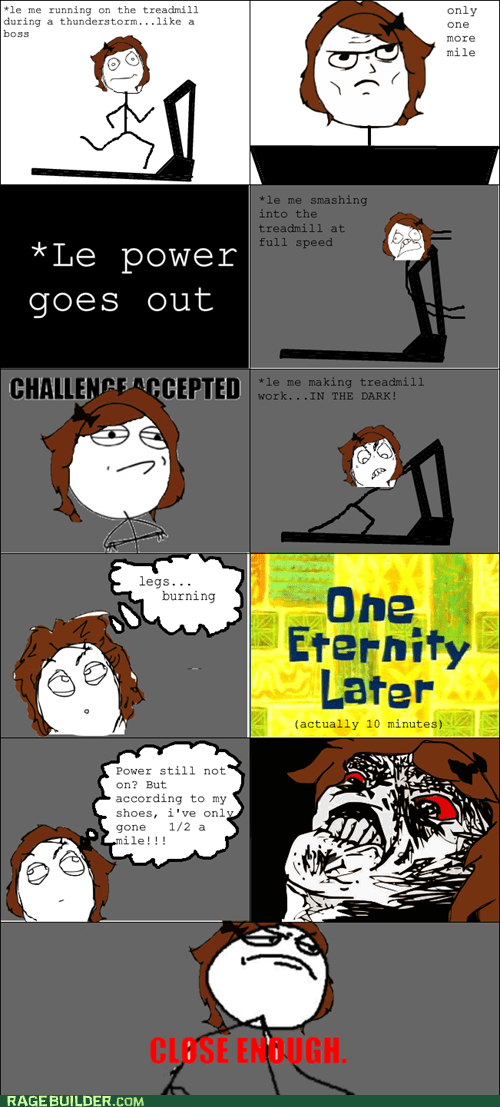 Challenge Accepted Close Enough Rage Comics running