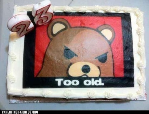 birthday cake pedobear too old - 6497487872