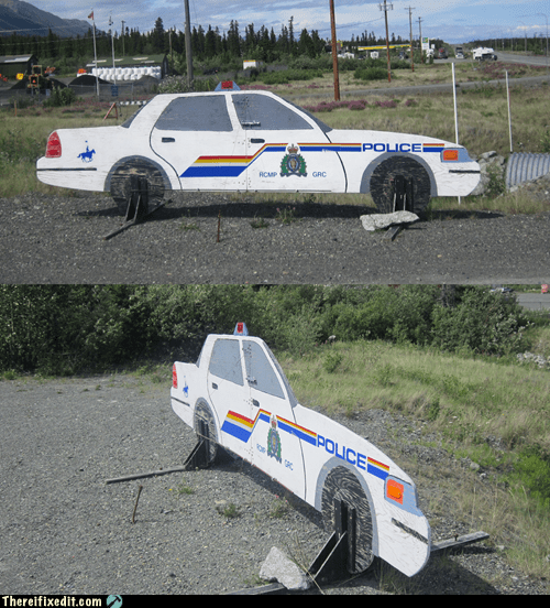one dimension police car Yukon