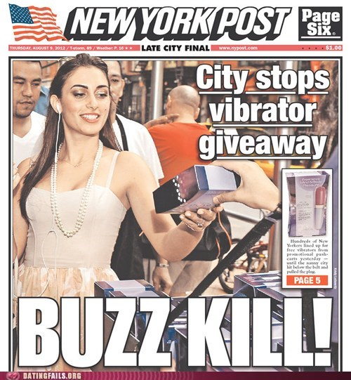 buzz kill,New York Post,sex toys,vibrators,NSFW
