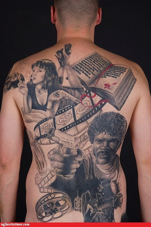 back tattoos,pulp fiction