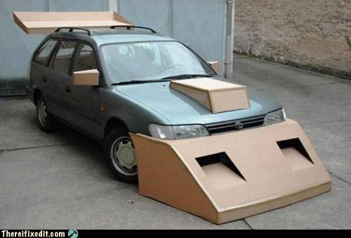 cardboard drag racer g rated race car street racing there I fixed it