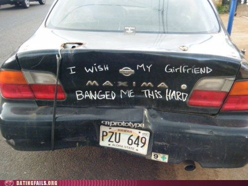 a man can dream,banged me hard,car,dating fails,g rated