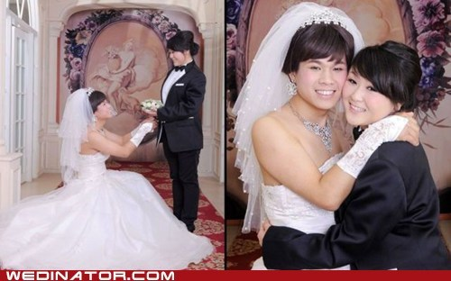 bride,funny wedding photos,gender,gender bending,groom