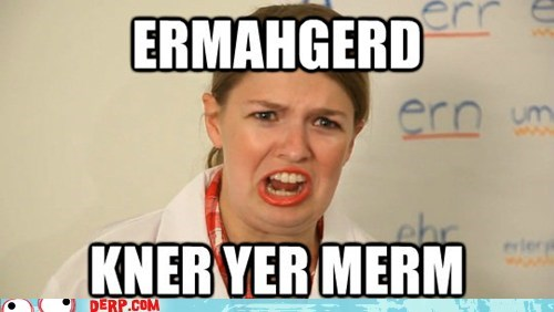 derp Ermahgerd know your meme self referential - 6497747712