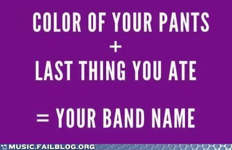 band name,pants