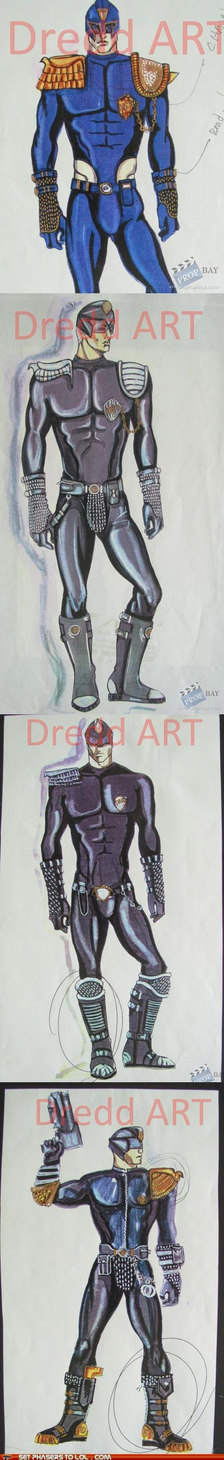 1995 concept art costume judge dredd Movie Sylvester Stalone